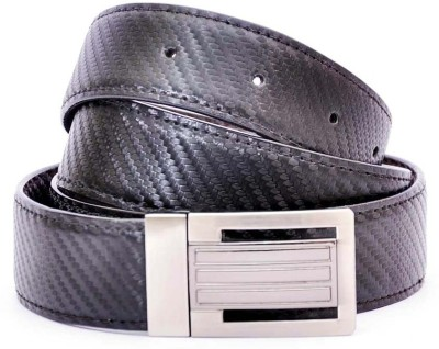 LEE O Men Formal Black Artificial Leather Reversible Belt