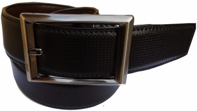 MMS Men Formal Black Canvas Reversible Belt