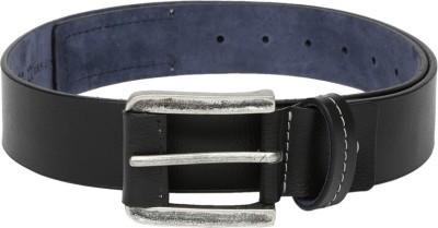 Roadster Men Casual Black Genuine Leather Belt