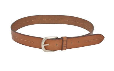 Fub Men Formal Tan Genuine Leather Belt
