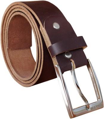 Water Men Formal Brown Genuine Leather Belt