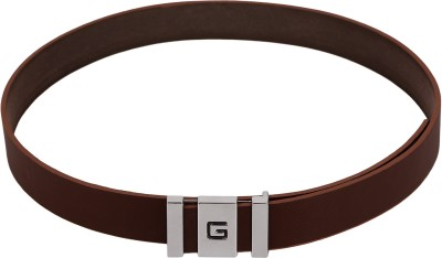 Stylehoops Men Formal Brown Artificial Leather Belt