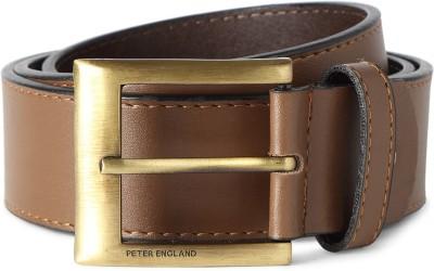 Peter England Men Brown Artificial Leather Belt