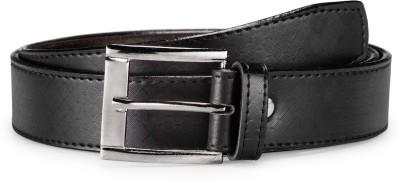 Arum Men Black Genuine Leather Belt