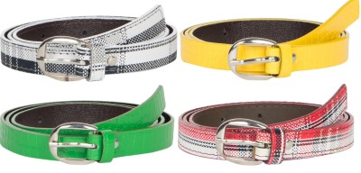 Mdr Collections Girls Formal Black, Yellow, Green, Maroon Artificial Leather Belt