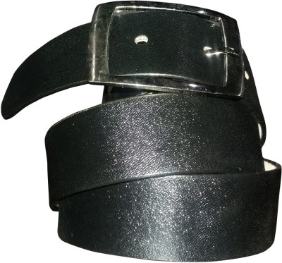 Giffi Men Casual Black Genuine Leather Belt
