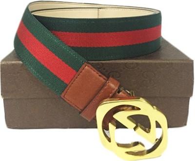 Zaira diamond Men Red, Green Genuine Leather Belt