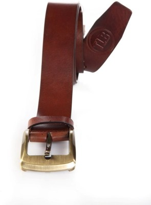 TLB Men Casual Brown Genuine Leather Belt