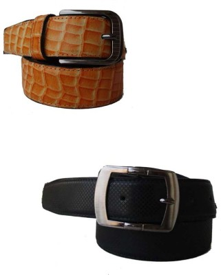 Klaska Men Casual Tan Genuine Leather Belt