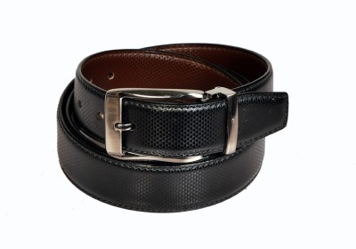 Swan Collection Boys, Men Formal, Casual, Evening Black, Brown Artificial Leather Reversible Belt