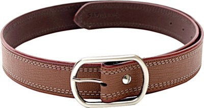 SkyWays Men Casual, Formal Brown Artificial Leather Belt