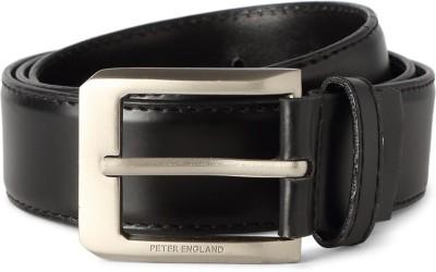 Peter England Men Black Artificial Leather Belt