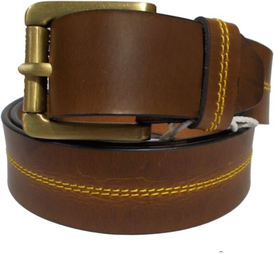 Ahsan Boys, Men Formal, Casual Brown Genuine Leather Belt