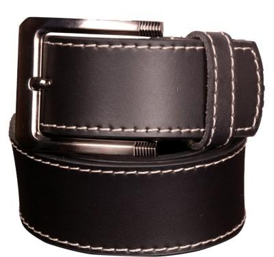 Cops Men Casual Black Genuine Leather Belt
