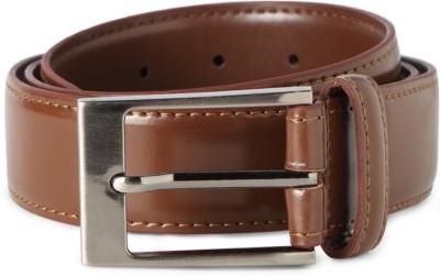 Peter England Men Beige Genuine Leather Belt