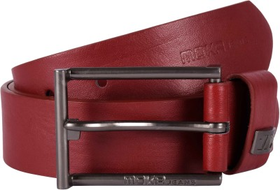 MOKA Men Casual Red, Brown Artificial Leather Belt