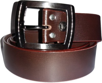 Gold Plus Men Casual, Formal Brown Genuine Leather Belt