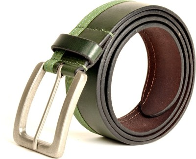 Just Differ Men, Boys Casual, Evening, Formal, Party Green Genuine Leather Belt