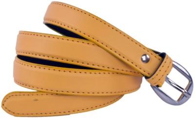Modishera Women Yellow Artificial Leather Belt