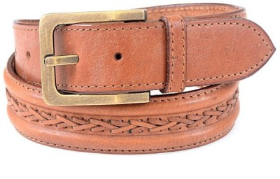Thayla Men Beige Genuine Leather Belt