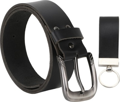 The Runner Men Casual Black Genuine Leather Belt