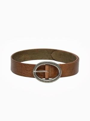 Fume Women Casual Tan Genuine Leather Belt