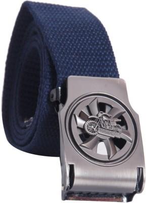 Oril Men Casual Blue Canvas Belt