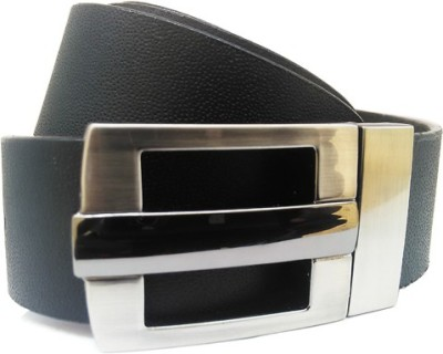 Wholesomdeal Men Casual Black Artificial Leather Belt