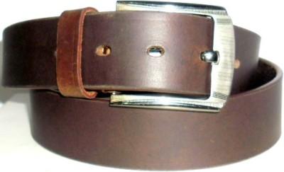 Troyfashion Men Brown Genuine Leather Belt