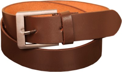 Naysa Men Formal, Casual Brown Genuine Leather Belt