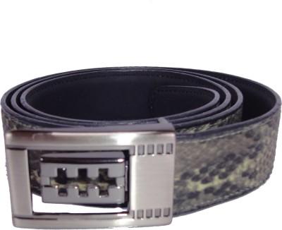 Revo Men Formal Black Synthetic Belt