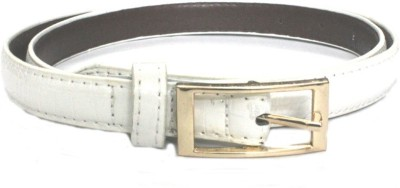 Amafhh Girls Casual White Artificial Leather Belt