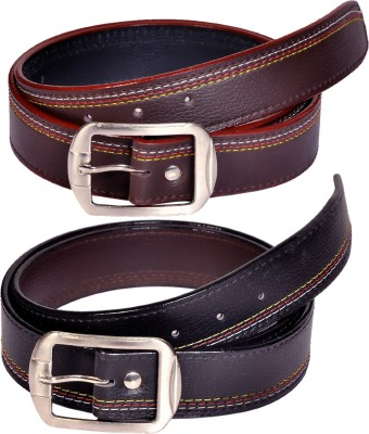 Swan Collection Boys, Men Casual, Formal, Evening Black, Brown Artificial Leather Belt