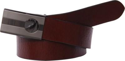S S Mart Men Formal Brown, Black Artificial Leather Reversible Belt