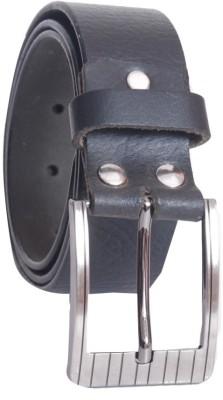 Oril Men Casual Black Genuine Leather Belt
