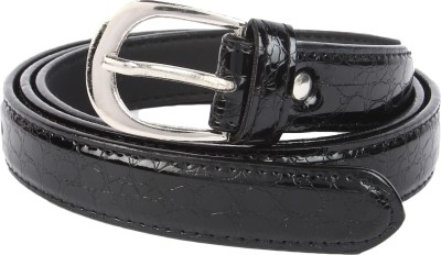 Lotus Designer Girls Casual Black Artificial Leather Belt