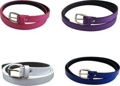 Verceys Girls, Women Casual Pink, Purple, White, Blue Artificial Leather Belt