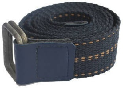 Renz Men Casual Blue Canvas Belt