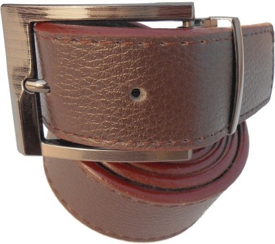 B.S.Chadha Group Men Formal Brown Artificial Leather Belt
