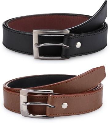 AMR Men Brown, Black Artificial Leather Belt