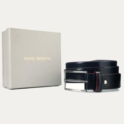 Mane Beretta Men Party Black Genuine Leather Belt