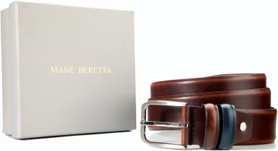 Mane Beretta Men Party, Casual Brown Genuine Leather Belt