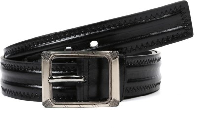 Vaishnovi Men Casual, Evening, Formal, Party Black Artificial Leather Belt