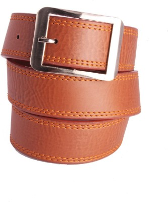Arsalan Boys, Men Tan Genuine Leather Belt