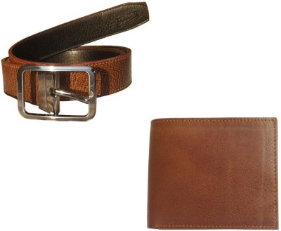 Sanshul Men Formal Brown, Black Genuine Leather Reversible Belt