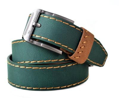 Drakemen Men Casual, Formal Green Genuine Leather Belt