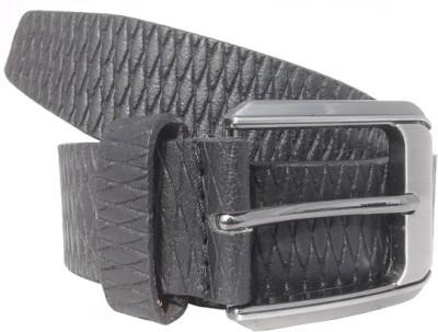 Wholesomdeal Men Formal Black Artificial Leather Belt