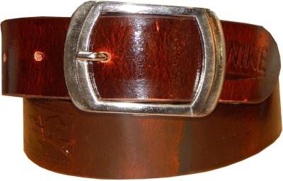 Ansari Men Casual Brown Genuine Leather Belt