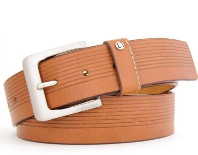 Hidea Men Casual Tan Genuine Leather Belt