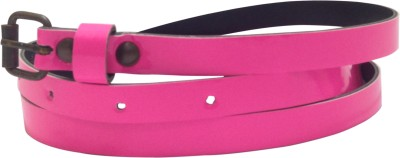 Miss Chase Women Casual Pink Artificial Leather Belt
